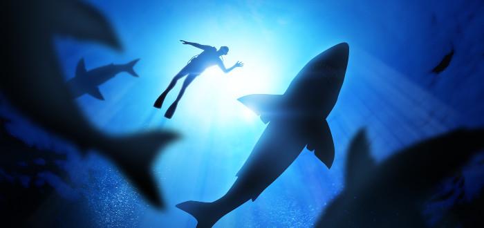 Soñar con Tiburones submarinista