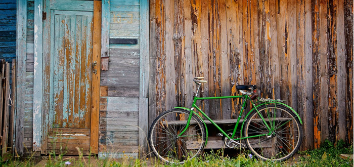 Soñar con Bicicleta cabaña