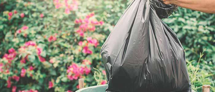 Soñar con basura y bolsa de basura