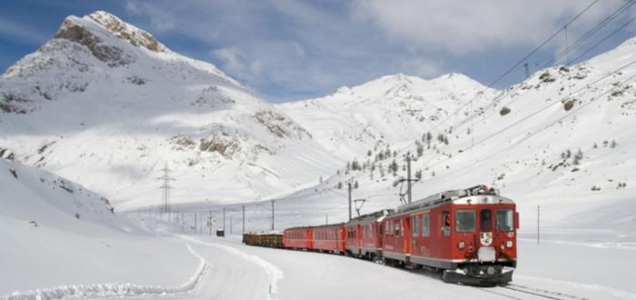 Soñar con Viajar en Tren nieve
