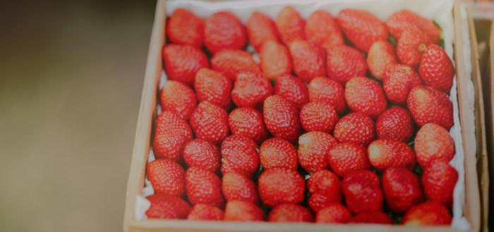 Soñar con fresas caja